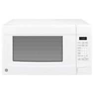 GE 14 cu ft 1100Watt Countertop Microwave Oven in White