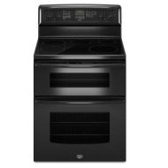 Maytag Gemini 30 In. Black Freestanding Electric Double Range - MET8775XB