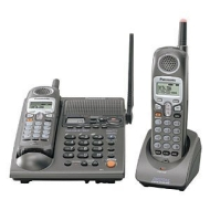 Panasonic Remanufactured Panasonic KX-TG2357PK 2.4 GHz DSS Cordless Phone Answering System with Talking Caller ID and Bonus Headset (Silver)