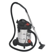 Sealey PC300SDAUTO - Vacuum Cleaner Industrial 30ltr 1400W/230V Stainless Bin Auto Start