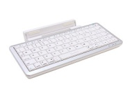 SYBA Bluetooth Keyboard with Detachable Stand, Silver/White