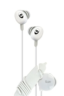 ILUV IEP311WHT HI-FI IN-EAR HEADPHONES WITH VOLUME CONTROL (WHITE)