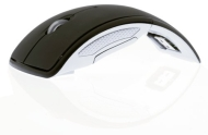 2.4GHz Wireless Arc (Foldable) Mouse With Mini USB Receiver - White Box Packaging