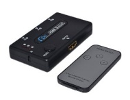 AUTO IR Remote 3 Port HDMI Switch Switcher Splitter 3D