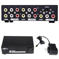 HDE® 4 Port RCA Audio Video Splitter