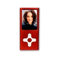 RED 4GB MP3 / MP4 player Cross Style with FM Radio, Video Camera and Full Colour Screen -- holds 1000 songs -- NOT AN IPOD NANO