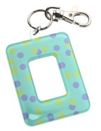 Polaroid i-zone Polkadot Acrylic Keychain Photo Frame