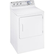 GE - 7.0 Cu. Ft. 13-Cycle Electric Dryer - White-on-White GTDP490EDWS