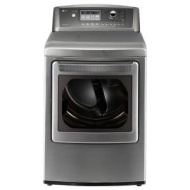 LG SteamDryer 73 Cu Ft 14 Cycle Ultra Large Capacity Steam Gas Dryer Graphite Steel