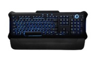 Perixx PX-1100, Backlit Keyboard - Red/Blue/Purple Illuminated Keys - Gaming Style Sollid 3.5lbs Design - Rubber Painting Surface - 20 Million Key-pre