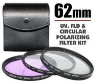 Zeikos 62mm UV, Polarizer & FLD Deluxe Filter kit (set of 3 + carrying case)