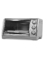 Black & Decker CTO4500S 6-Slice CounterTop Convection Oven with Pizza Bump, Stainless Steel