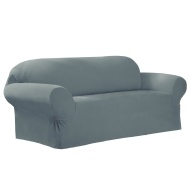 Maytex Collin Stretch 1-Piece Slipcover Loveseat, Moss