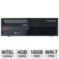 Lenovo ThinkCentre M58p Desktop PC - Intel Core 2 Duo E8400 3.0GHz, 4GB DDR2, 160GB HDD, DVDRW, Windows 7 Professional 64-bit (Off-Lease)  RB-LEM58P/3
