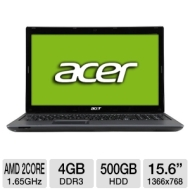 Acer Aspire AS5250-BZ467 15.6&quot; Laptop AMD Dual-Core E-450, 4GB DDR3, 500G HD