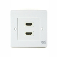 Cablesson® HDMI Wall Plate Dual Connector 100/100 - White (HDMI 1.3 and HDMI 1.4 Compatible)