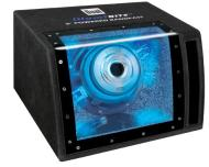 Dual SBP8A 160 Watts Single 8-Inch Amplified Bandpass (Black)