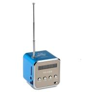 Pixnor TD-V26 Portable Mini Digital Lautsprecher Musik-Player mit FM-Radio angegeben Slot USB / LED Licht für Handy Verzeichnis / MP3