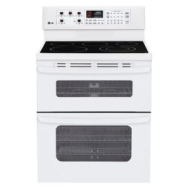 LG LDE3015SB Black Large Capacity Electric Oven with 6&amp;quot; High Upper Oven and Cer
