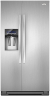 Whirlpool GSF26C4EXY - 26.4 Cu. Ft. Side-by-Side Refrigerator, Monochromatic Stainless Steel