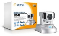 COMPRO IP 570  1.3 MP/PTZ/H.264/12x Optical Zoom/Day & Night/MicroSDHC/Two way aduio/motion detection