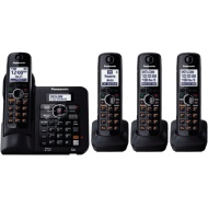 Panasonic Dect 6.0 plus 4 Handset Expandable Cordless Phone KXTG6644B