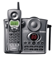 Uniden EXAI-3248 2.4 GHz Analog Cordless Phone with Call Waiting/Caller ID and Digital Answering System (Charcoal)