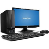 "Acer Black eMachines EL1360G-UW12P Upgraded Desktop PC with AMD Dual-Core E-300 Processor, 8GB Memory, 20"" Monitor, 500GB Hard Drive, Windows 7 Home P"