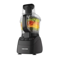 Black & Decker 500 Watt Wide-Mouth Food Processor in Black FP2500B