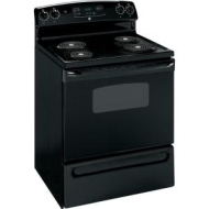 "GE JBP80DMBB - Range - 30"" - freestanding - with self-cleaning - black on black"