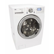 LG : WM2688HWMA 27 Front-Load Steam Washer - White