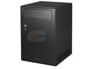 Lian Li PC-Q07B Mini-Tower PC-Gehäuse (mini-ITX, 1x 3,5 Zoll interne, 1x 5,25 Zoll externe, 2x USB 3.0) schwarz