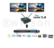 2 voies Splitter HDMI 1x2 BOX Port , 1 entrée 2 sorties 3D - HD - Amplifier Multiplier 2 télévision, Ecrans Diviseur hdmi