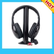 5 in 1 Wireless Cordless Headphones Microphone Radio