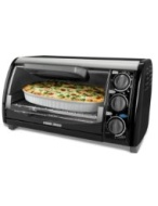 Black & Decker TRO490B 1200-Watt 4-Slice Countertop Oven and Broiler with Removable Crumb Tray