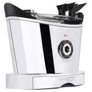 Bugatti 13VOLOCR/110 Volo 2-Slice Toaster, Chrome