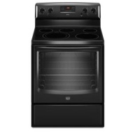 MER8674AB Maytag 6.2 Cu. Ft. Capacity Electric Range with Dual Choice and Speed Heat Elements - Blac