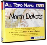 iGage All Topo Maps North Dakota Map CD-ROM (Windows)