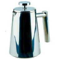 Contemporary highly polished 18/10 Stainless Steel Insulated Coffee Maker / Cafetiere - 400ml 3 Cup - a great way to drink coffee at home!