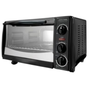 Euro-Pro 6 Slice Toaster Oven Black w/ 12 Pizza Bump