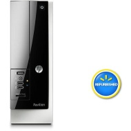 HP Refurbished Black Slimline Tower 400-224 Desktop PC with AMD Quad-Core A4-5000 Accelerated Processor, 6GB Memory, 1TB Hard Drive and Windows 8.1 (M