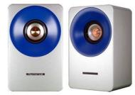 NuForce S-1 Speaker (1 pair, black/silver) for Icon Systems