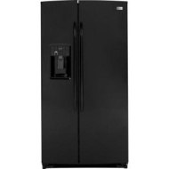 GE Profile 25.9 Cu. Ft. Black Side-by-Side Refrigerator - PSHF6PGZBB