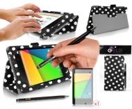 Google Nexus 7 ii Tablet Case / Housse / Etui POLKA VIOLET avec la fonction Support Intégré (PropUp Stand) pour La Tablette Google Nexus 7 version 2