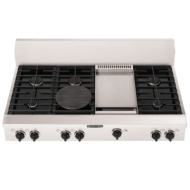 "KitchenAid Pro-Style 48"" Gas Cooktop Plus Grill Stainless steel"