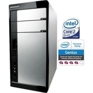 IdeaCentre K210 57076158 Desktop Computer Core 2 Quad Q6600 2.4GHz - Tower - Silver - Black (3 GB RAM - 500 GB HDD - Intel - Windows Vista Home Premiu