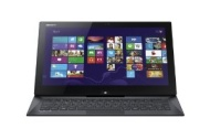 "Sony - VAIO Duo 2-in-1 13.3"" Touch-Screen Laptop - 4GB Memory - 128GB Solid State Drive - Carbon Black SVD13213CXB"