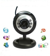 USB Webcam 5 MegaPixel, 5G Lens, With Built- Microphone & 6 LED Night Vision For Windows XP/2000/2003/Vista/Win 7 Laptop PC Computer-USB 2