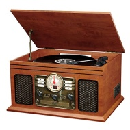 Innovative Technology Electronics 6-in-1 Nostalgic Bluetooth Entertainment Center