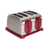 Kalorik Red 4 Slice Toaster